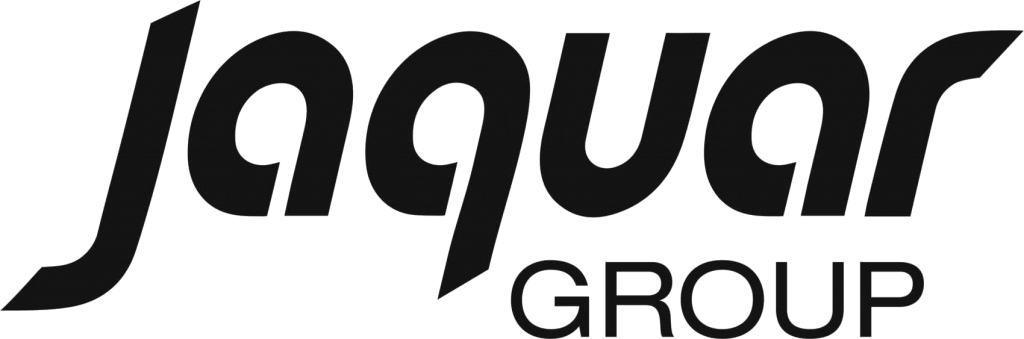 "Jaquar logo in a white bacground with an under text ""group"""