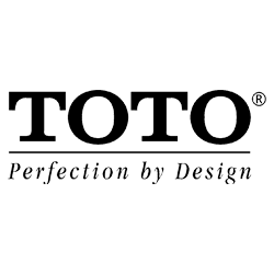 "TOTO Logo in a white backgorunf with a caption saying ""perfection by design"""