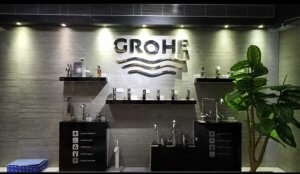 Inside of ABC Emporio Kannur one of the Best Sanitary Ware Showroom in Kerala dedicated area for Grohe